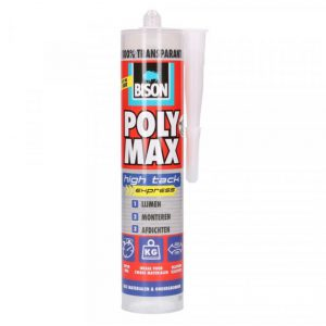 Bison Poly Max High Tack Express transparant 300 gram