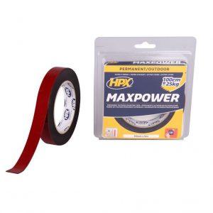 HPX Max Power zwart 19mm x 5 meter