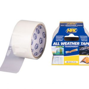 HPX All Weather tape 48 mm x 5 meter transparant