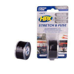 HPX Stretch & Fuse zelfvulkaniserende tape 25 mm x 3 meter zwart